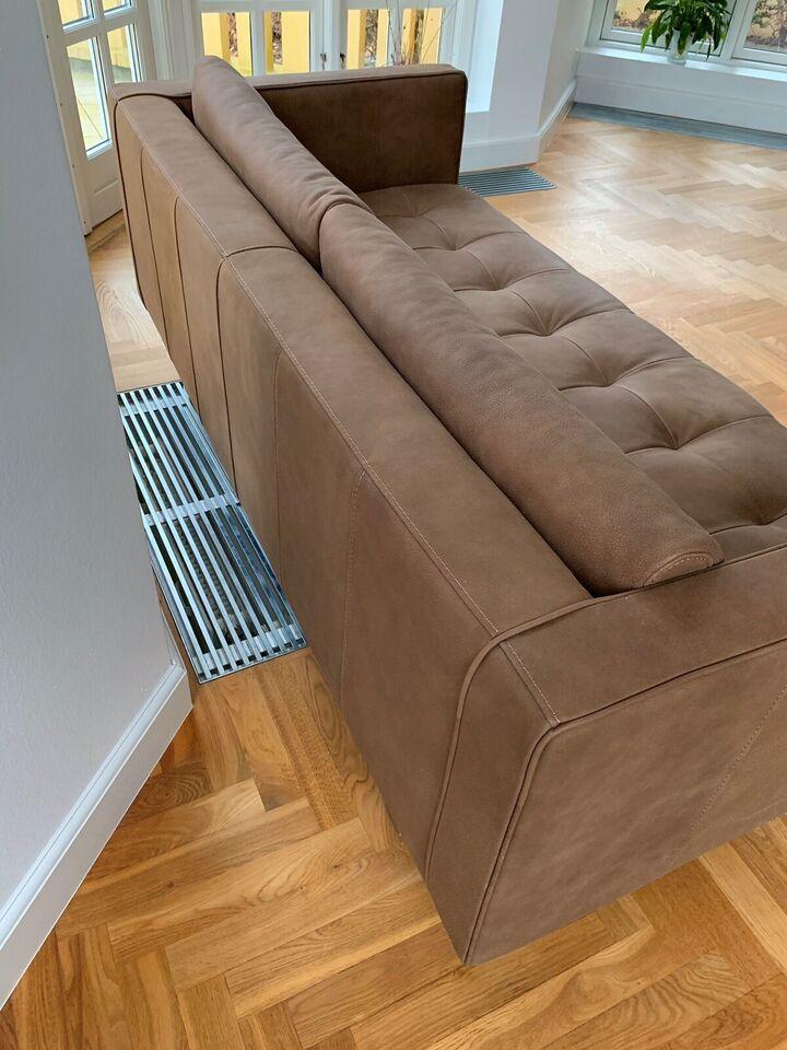 Sofa, læder, anden størrelse