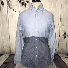 J Crew Oxford Slim Fit Mens Button Front Long Sleeve Dress Casual Shirt Size S