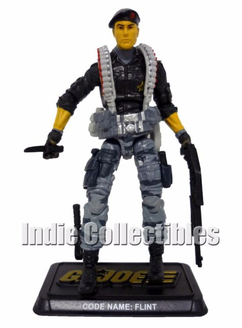 "GI JOE FLINT 50th Anniversary 3.75"" Action Figure v23-B C9+ COMPLETE 2014"