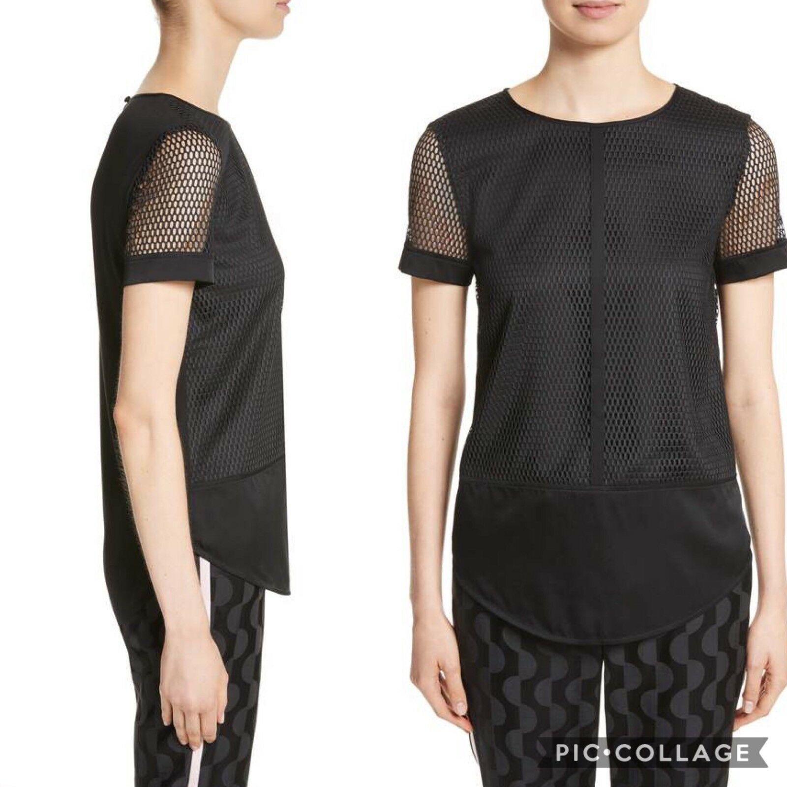 St.John Circular Net Top-Small MSRP  New