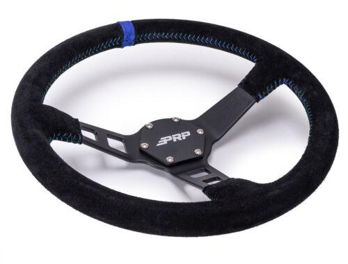 PRP Deep Dish Suede Steering Wheel Blue RZR Ranger Commander Maverick YXZ1000