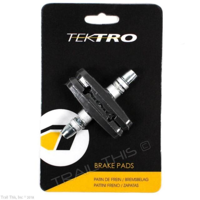 2 pairs Aican Bike Bicycle MTB Mountain V-Brake shoes pads Threaded type Black