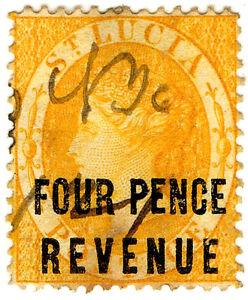 I-B-St-Lucia-Revenue-Duty-Stamp-4d