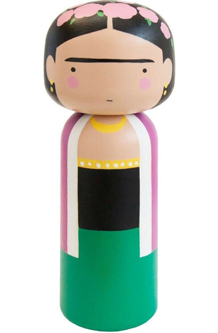 Lucie Kaas Kokeshi Doll Frida Kahlo F S from JAPAN w Tracking NEW