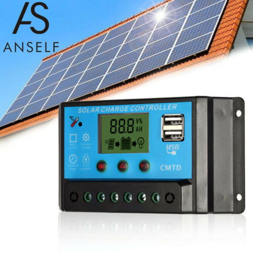 10A 12.6V LCD Solar Charge Controller Charging Regulator for Solar Panel S5P7
