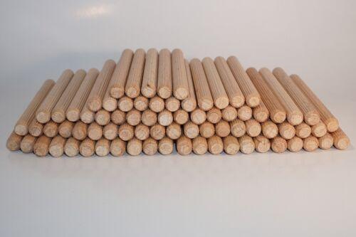 Buche Holzdübel 8x40 // 8x80 // 8x100 mm Bastel Holzstäbe geriffelt