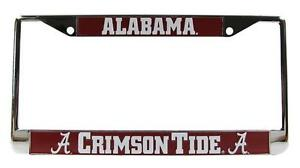 Alabama Crimson Tide 3D Metal Chrome Auto License Plate Frame