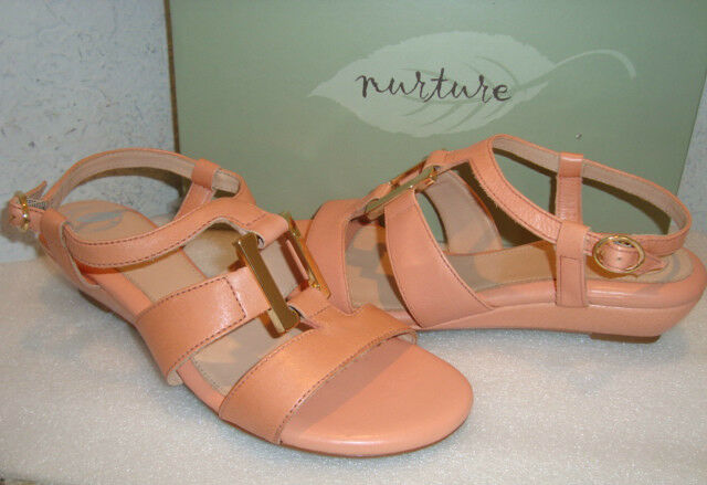 Nurture Donna NWB Macey Peach Melba Sandals Shoes 7 MED NEW