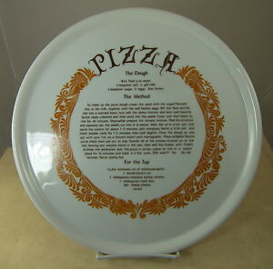 Fine-Seyei-China-Oven-to-Table-Pizza-Plate-12-25-034-Porcelain-with-Recipe-Japan