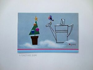 Disney artist tyrus wong sample xmas greeting card a christmas song image is loading disney artist tyrus wong sample xmas greeting card m4hsunfo