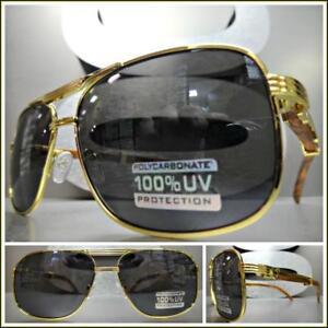 b0c7416a75c783 Homme Chic Style Rétro Vintage Lunettes de Soleil or   Bois Cadre en ...