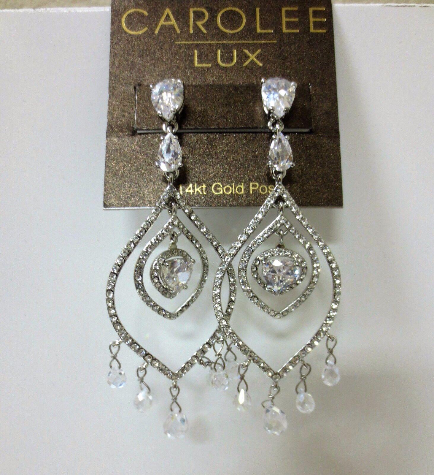 Carolee Lux Eve Crystal Chandelier Pierced Earrings NEW  175