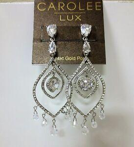 Image Is Loading Carolee Lux Eve Crystal Chandelier Pierced Earrings New