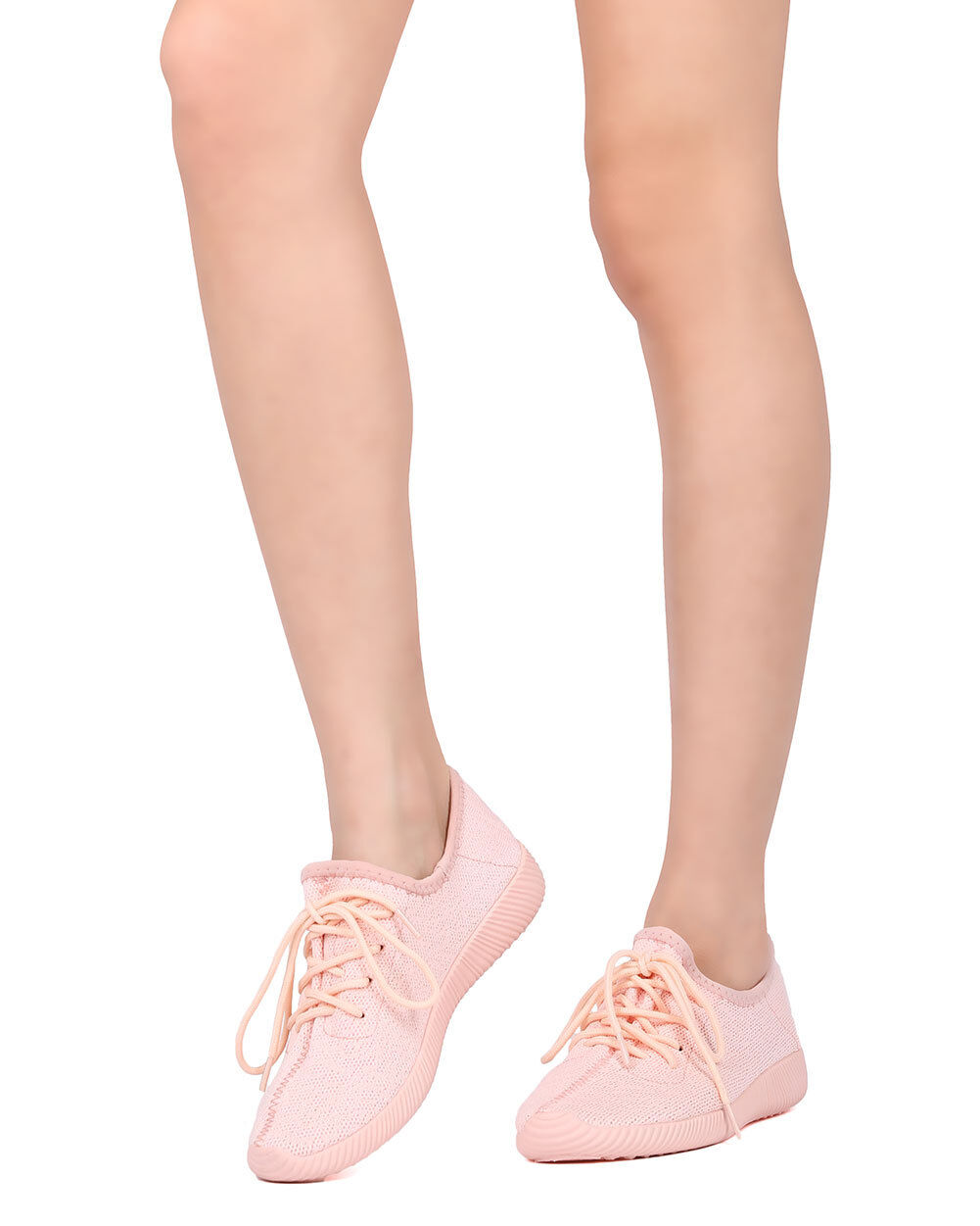 New Women Qupid Up Nacara-01 Fabric Knitted Lace Up Qupid Jogger Sneaker 19cc50