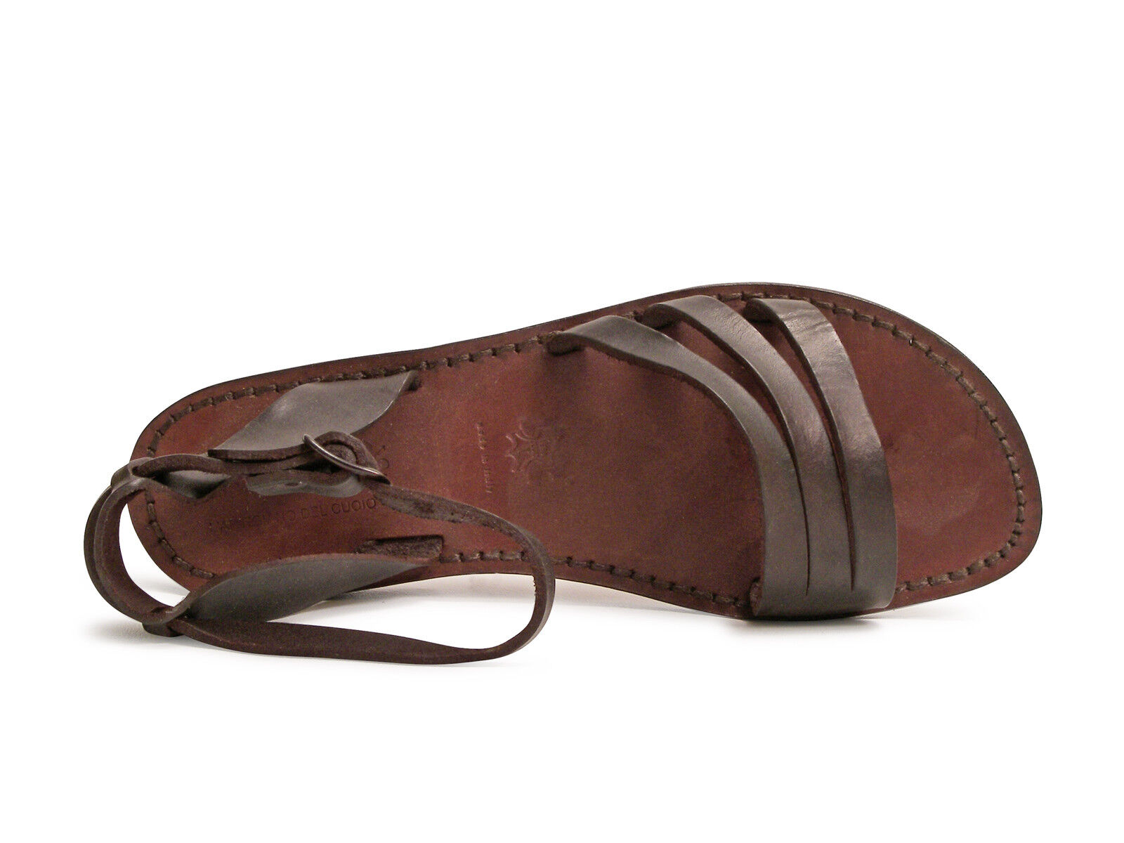Braun Leder ankle strap handmade franciscan Sandales for Damenss handmade strap in  8cd3b3