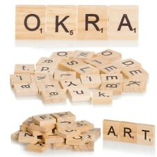 Upto 500 x Quality Wooden Alphabet Tiles Craft Jewellery Making Board Game Art