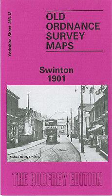 OLD ORDNANCE SURVEY MAP SWINTON 1901 STATION STREET WILLIAM STREET BRIDGE STREET