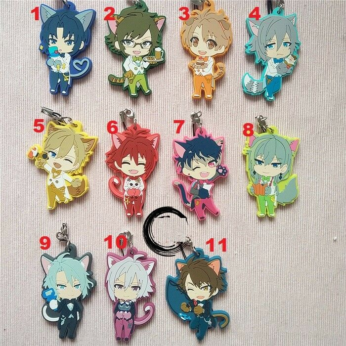 Idolish7 Trigger Re vale Anniversary Anime Rubber Strap Charm Keychain Cat Ear