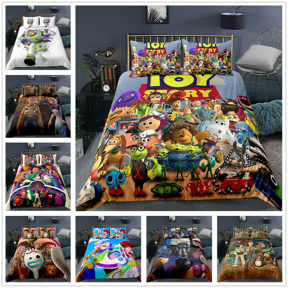 3D Disney Toy Story Woody Kids Bedding Set Duvet Cover Pillowcase Quilt  Cover