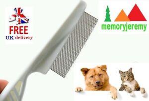 2-x-Pet-Dog-or-Cat-Flea-Flee-Comb-with-Plastic-Handle-UK-SELLER