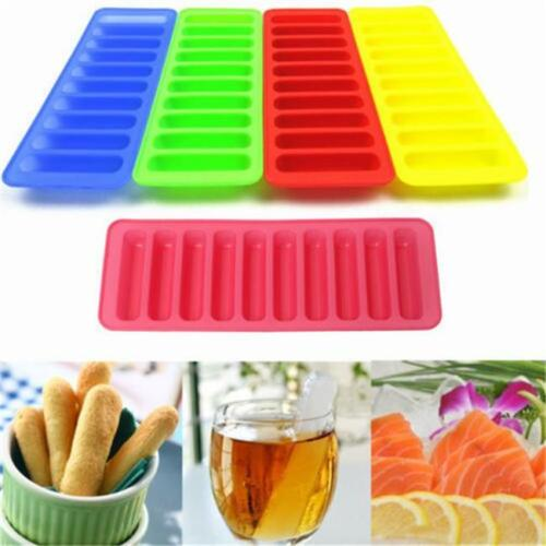 Ice Cube Trays Long Slim Sticks Fits Sports Water Bottle Ice Cream Mould CZ