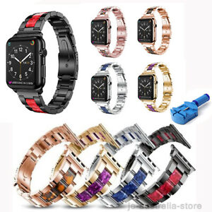 38-40-42-44mm-Stainless-Band-Metal-Strap-Bracelet-For-Apple-Watch-iWatch-5-2-3-4