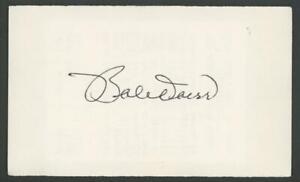 BOBBY DOERR signed index card (RED SOX - Autograph) HOF