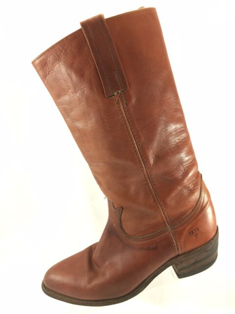 b26b16a4d7fb3 Vintage Frye 2580 Brown Leather BOOTS Made in USA Womans Size 9d