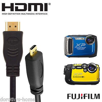 Fujifilm Finepix Xp200, Xp170 Fotocamera Micro Hdmi A Hdmi Tv Monitor 5m Cavo Di Piombo-mostra Il Titolo Originale Rafforzare La Vita E I Sinews