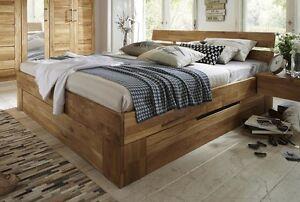 Doppelbett-Bett-mit-Schubkaesten-160x200-Wildeiche-Holz-massiv-geoelt-NEU-OVP