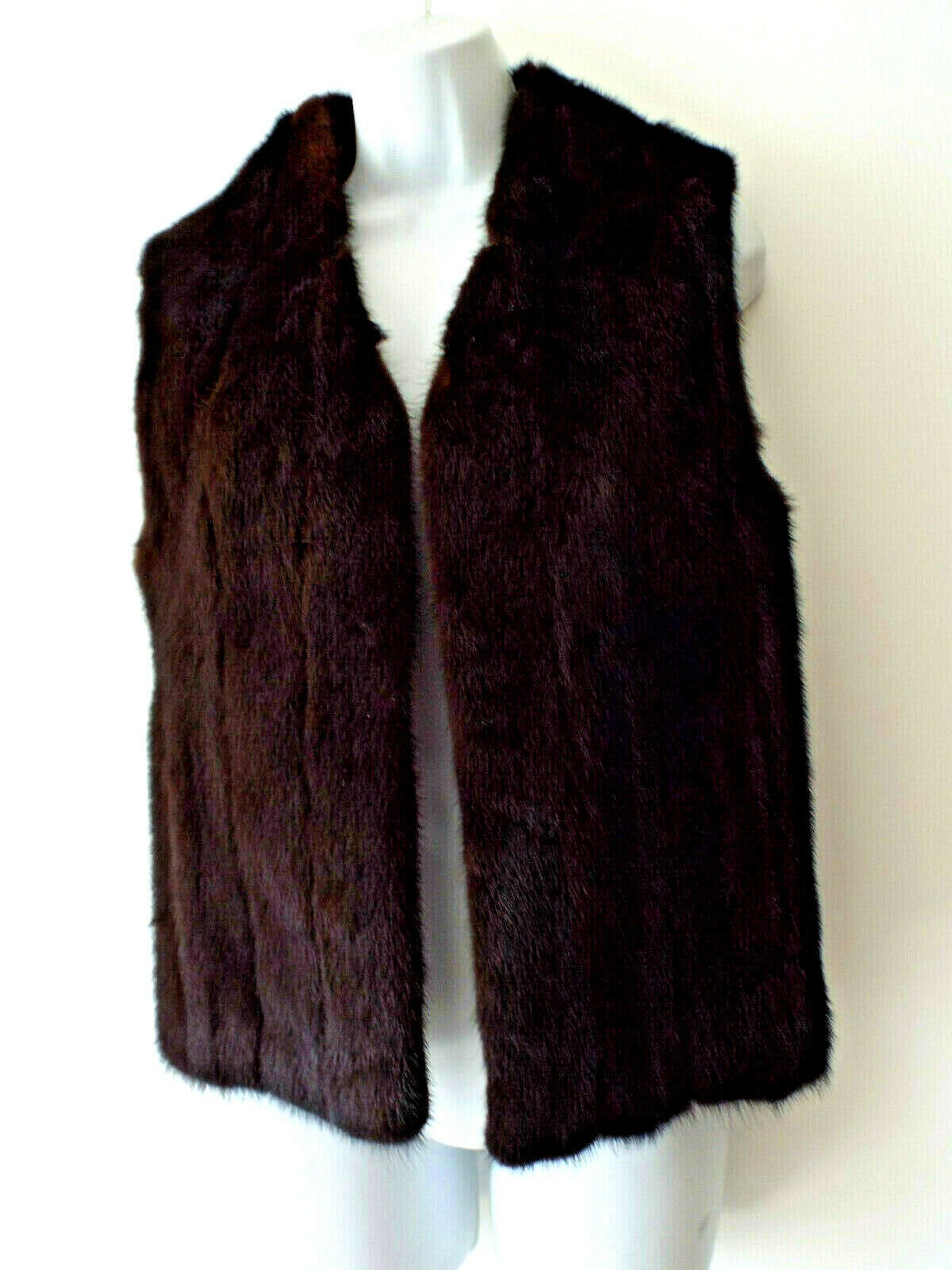 KODIAK FURS Alaska Sz M FUR VEST deep brown