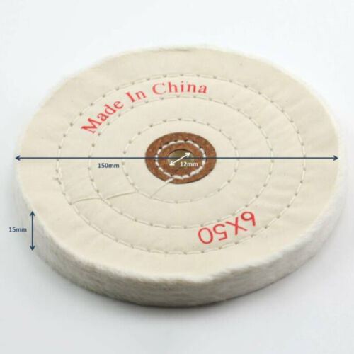 """150mm 6/"""" Cloth Buffing Polishing Wheel Cotton Jewelry Grinder Pad 1 Pack"""