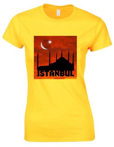 Best Destinations In The World Istanbul Turkey Hagia Sophia Ladies Tshirt AG22