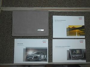 2009 audi r8 owners manual with r8 leather case ebay rh ebay com r8 owners manual roland r8 owners manual
