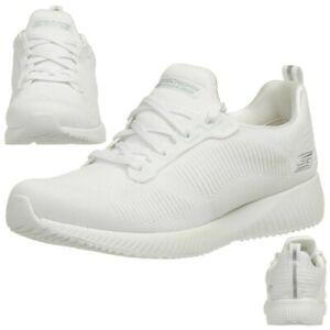 Details about Skechers Bob's Squad Photo Frame Women's Fitness Shoes Memory Foam Wht