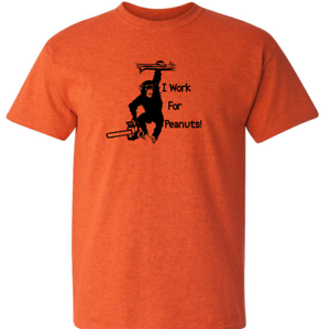 5aa9d00d74 Image is loading FUNNY-MONKEY-ARBORIST-T-Shirt-Chainsaw-Climbing-Forestry-