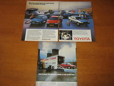 Toyota Starlet, Corolla, GT, Honda Civic GT, Saab 9000 Turbo 16 adverts