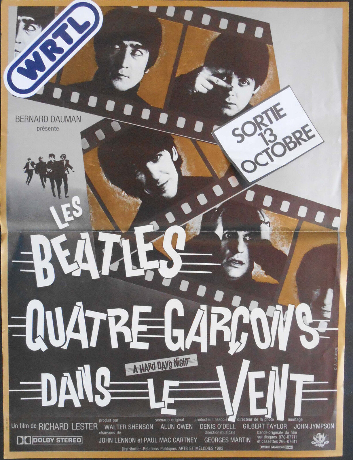 Official The Beatles A Hard Day/'s Night Maxi Poster 91.5 x 61cm Giant Music Leg