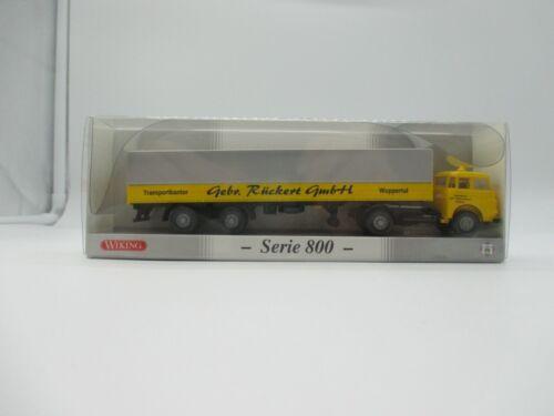 """Rückert Wiking:Serie 800- MAN /""""Pausbacke/"""" Langpritschensattelzug Gebr * SSK70"""