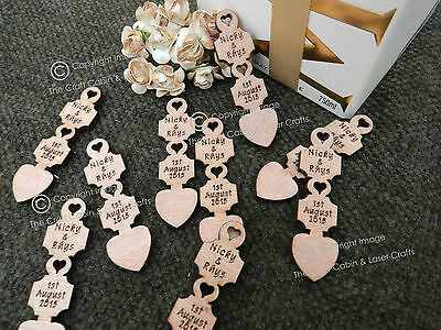 Personalised Wooden Love Spoons, Favours, Table Decorations, Vintage Wedding