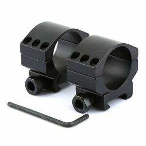 2x30mm-Low-Profile-Heavy-Duty-Rifle-Scope-Mount-Rings-with-6-Bolts-for-Weaver-Pi