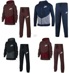 89286b1b3c48 Image is loading Boys-Nike-Sweatshirt-Full-Tracksuit-Kids-Fleece-Hooded-