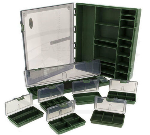 NGT 7+1 Tackle Box Terminal Tackle système de stockage /& Cheveux Rig Board Fishing Box