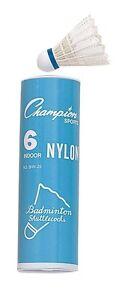 Weitere Ballsportarten Nylon Badminton Birdies Federball Bequemes GefüHl Champion Sports Schlauch Mit 6 Turnier Innen Bälle