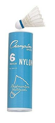 Nylon Badminton Birdies Federball Lovely Luster Bälle Purposeful Champion Sports Schlauch Mit 6 Turnier Innen Badminton