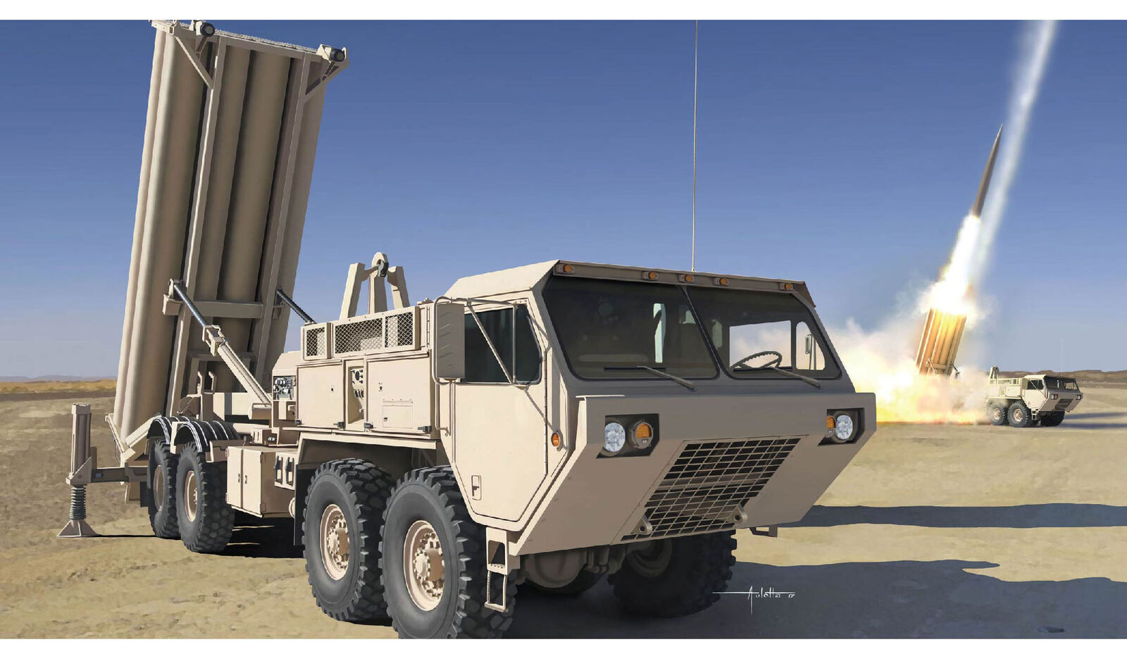 Dragon modellos 1 35 M120 Terminal High Altitude Area Defense Missile Launcher