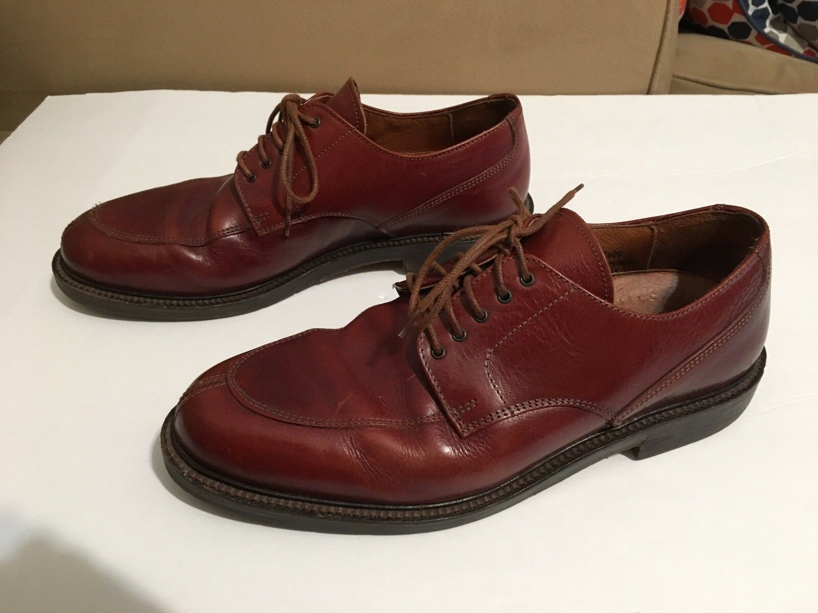 Mens Johnston & Murphy Passport Brown Split Toe Oxford shoes Size 8 M.Made