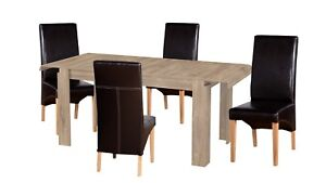Dining room furniture set extendable table 4 & 6 chairs kitchen ...