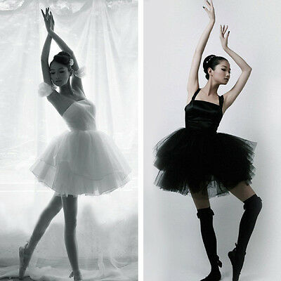 New Women Classic Swan Costume Adult Ballet Dance Dress Professional Tutu Skirt