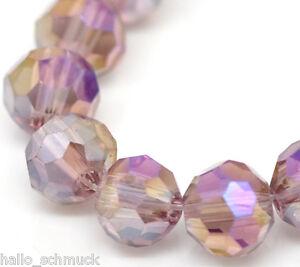 HS-3-Strange-Lila-Glasperlen-Schliffperlen-Facettiert-Beads-BICONE-4mm